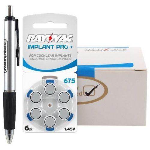 Rayovac 60 x baterie do aparatów słuchowych 675 implant pro+ mf + magnetyczny chwytak do baterii rayovac