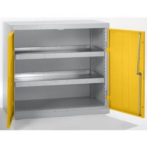 Stumpf-metall Szafa ekologiczna, drzwi zamknięte, wys. x szer. x głęb. 900x1000x500 mm, 2 półk