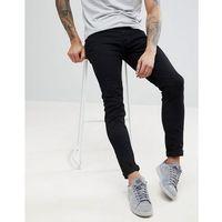 drake twill slim fit jeans in black - black marki Farah