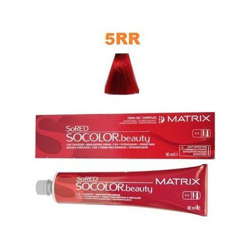 MATRIX SOCOLOR Beauty Farba do włosów RED HD 5RR Intensywnie czerwony jasny brąz 90 ml (3474630396203)