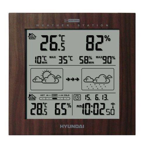 Stacja pogody HYUNDAI WS2244W Brązowy (8592417046471)