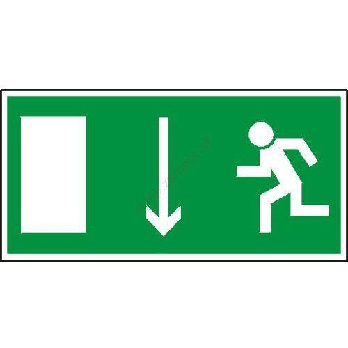 Znak Kierunek ewakuacji do wyjścia strz. w dół - produkt z kategorii- Znaki informacyjne i ostrzegawcze