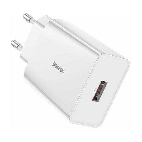 Baseus Speed Mini   Ładowarka sieciowa USB-A Quick Charge 3.0 AFC 18W - Biały (6953156218727)