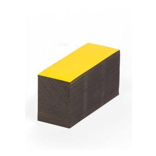 Magnetyczna tablica magazynowa, żółte, wys. x szer. 25x80 mm, opak. 100 szt. Zap