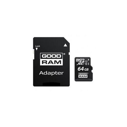 KARTA PAMIĘCI microSD GOODRAM UHS1 CL10 64GB + ADAPTER, 8190-9104C