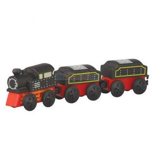 Plan toys Pociąg węglarka, zestaw drewnianych wagoników,  plto-6095, kategoria: zabawki drewniane