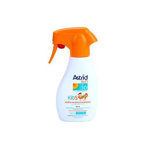 Astrid Sun Kids mleczko do opalania w sprayu dla dzieci SPF 30 (Waterproof, D-panthenol, UVA+UVB) 200 ml