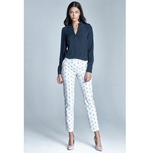 Spodnie damskie model sd23 1181 ecru/pink, Nife
