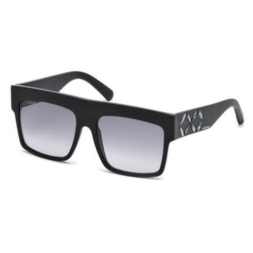 Okulary słoneczne sk 0128 01b marki Swarovski