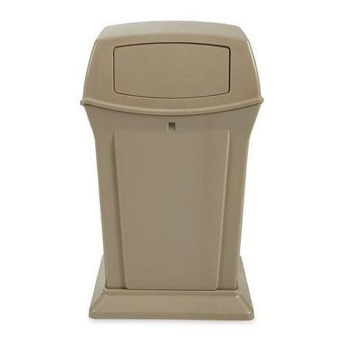 Pojemnik na odpady (PE), ogniotrwały, poj. 170 l, beżowy. Z bardzo trwałego twor