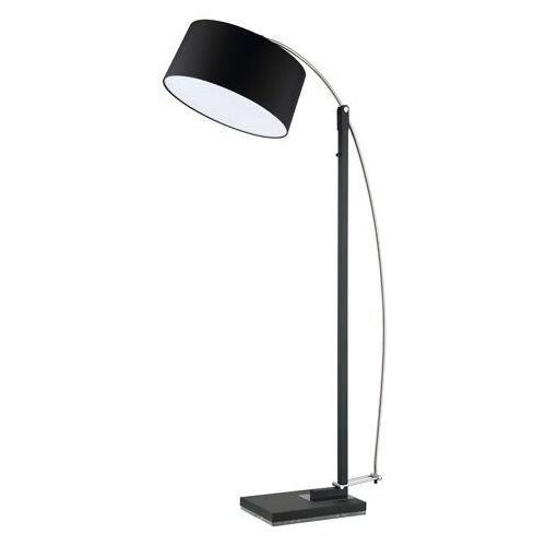 Czarna lampa podłogowa z dużym kloszem Edgar DeMarkt Megapolis (408042603) (4250369182022)