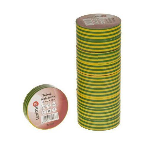 Taśma izolacyjna 19 mm X 20 m żółto - zielona F619252 LEXMAN