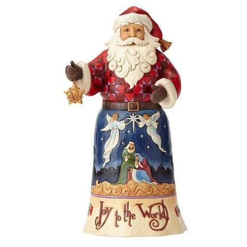 Mikołaj radosna nowina joy to the world santa 4058782 figurka ozdoba świąteczna marki Jim shore