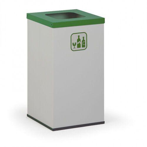 Kosz do segregacji śmieci, 42 l, bez wewnętrznego pojemnika, szary/zielony marki B2b partner