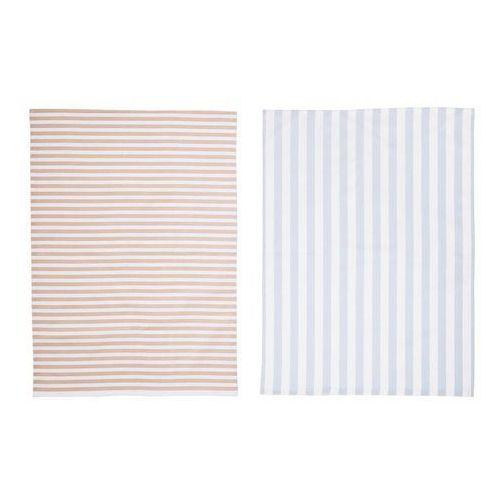 Ręczniki kuchenne pastelowe pasy Bloomingville 2 szt., 90160700