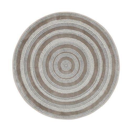Dywan okrągły NANO perłowo-szary śr. 100 cm (5901760185189)