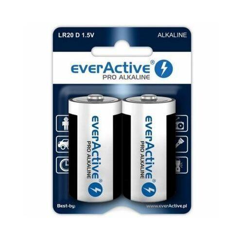 Everactive 2 x baterie alkaliczne pro lr20 / d (blister) (5903205770301)