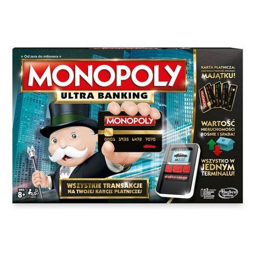 Gra monopoly ultra banking, marki Hasbro