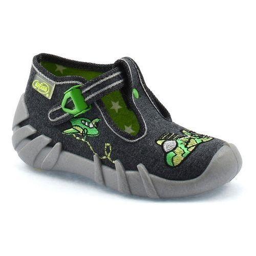 Kapcie dziecięce Befado 110P279 Speedy - Zielony   Grafitowy