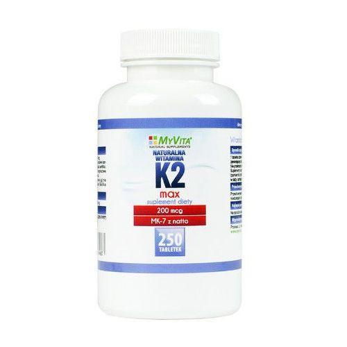 Witamina K2 MK-7 K2 MK7 MAX 200mcg z natto K2MK7 250 tabletek MyVita