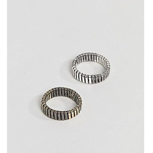 Reclaimed vintage inspired ring pack with emboss in mixed metals exclusive at asos - multi