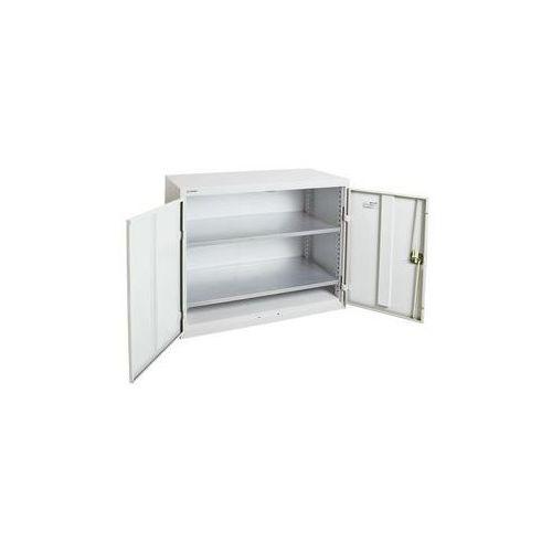Szafka z drzwiami skrzydłowymi,z drzwiami w całości z blachy, 2 półki