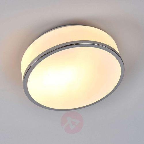 Lampa sufitowa Flush srebrna satynowana IP44 23cm