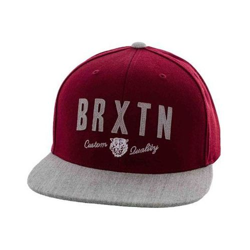 czapka z daszkiem BRIXTON - Ronan Burgundy/Light Heather Grey (0755) rozmiar: OS