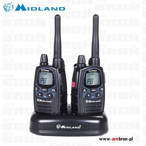 Midland Radiotelefon g7 pro zestaw 2szt + ładowarka - krótkofalówki 2 szt - najnowszy model
