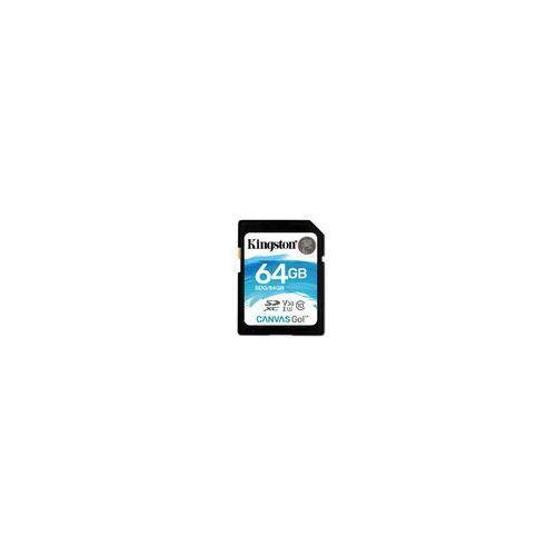 Karta pamięci Kingston Canvas GO! SDXC 64GB class 10 UHS-I U3 V30 - 45/90MB/s