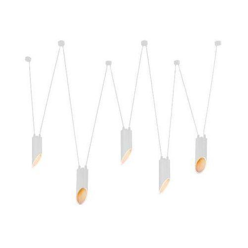 Shilo Lampa wisząca viwin 9048/gu10/bi metalowa oprawa asymetryczny zwis tuby białe (1000000552874)