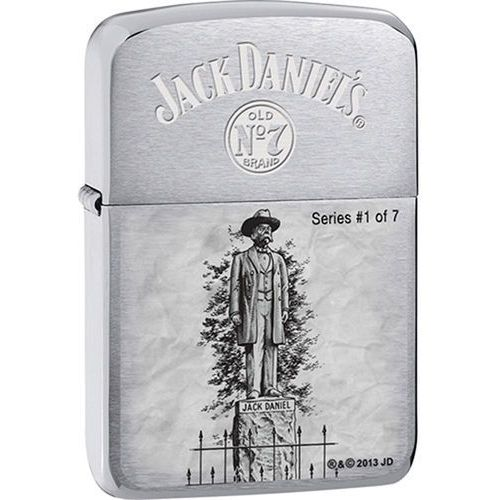 Zapalniczka  jack daniels, 1941 replica brushed chrome marki Zippo