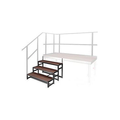2m  spz 0016 - modular stairs (up to 0.8 m height of stage platform), schody do podestów scenicznych, kategoria: pozostałe dj i karaoke