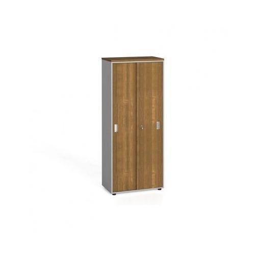 B2b partner Szafa biurowa z przesuwnymi drzwiami, 1781x800x420 mm, orzech