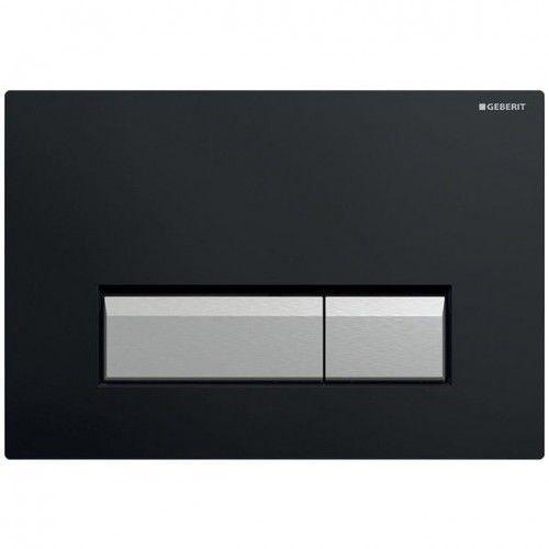 GEBERIT przycisk Sigma 40 DuoFresh czarny/szczotkowane aluminium 115.600.KR.1