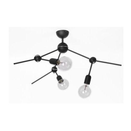 Aldex Lampa sufitowa adx 867e/1 metalowa oprawa pręty regulowane molekuły żarówki bulbs loft czarne (5904798639778)
