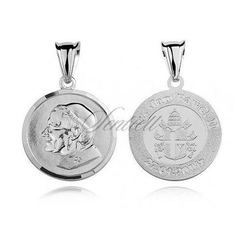 Srebrny medalik święty jan paweł ii - md273 od producenta Sentiell