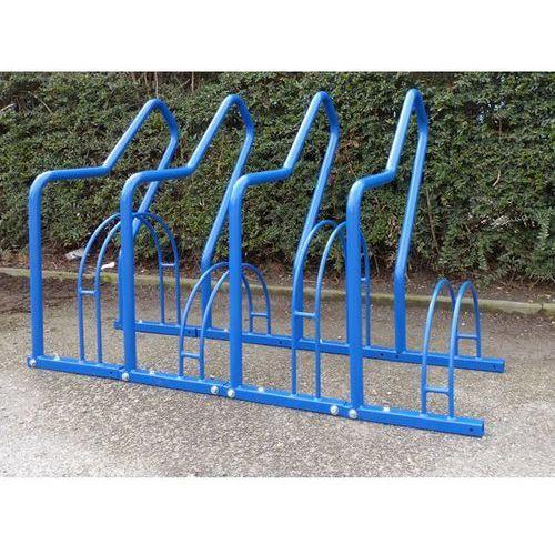 Stojak rowerowy z pałąkami wsporczymi, 4 miejsca ustawienia, lakierowanie na kol marki Melzer metallbau gmbh & co. kg
