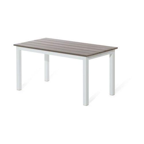 Beliani Meble ogrodowe białe - tarasowe - stół + sofa + podnóżek - messina