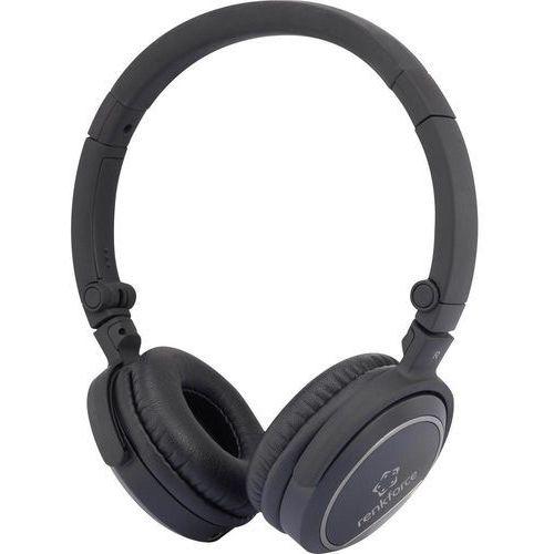 Słuchawki Hi-Fi, nauszne Renkforce HP-P244, 20 - 20 000 Hz, czarny