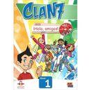Clan 7 con Hola amigos 1 podręcznik CD MultiROM, oprawa miękka zdjęcie 1