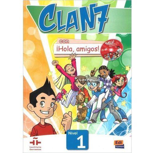 OKAZJA - Clan 7 con Hola amigos 1 podręcznik CD MultiROM, oprawa miękka