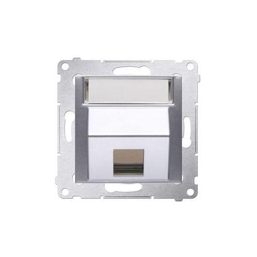 Kontakt - simon Skośna pokrywa gniazd teleinformatycznych srebrny mat dkp1s.01/43 simon54 (5902787824501)