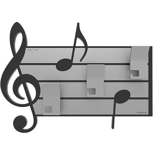 Wieszak ścienny dekoracyjny Puccini CalleaDesign czarny (51-13-3-5)