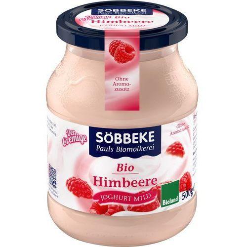 Sobbeke Jogurt malinowy 7,5% bio 500 g (słoik) -