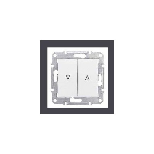 Sedna Przycisk żaluzjowy 2-biegunowy z blokadą elektryczną 10A biały SDN1300121 SCHNEIDER ELECTRIC, SDN1300121