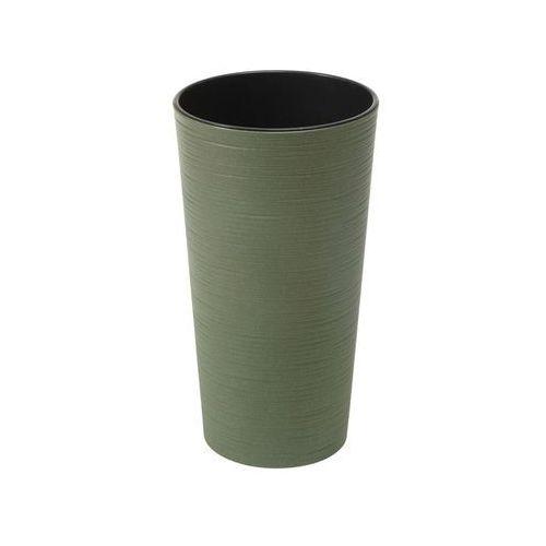 Lamela Doniczka plastikowa 25 cm zielona lilia dłuto
