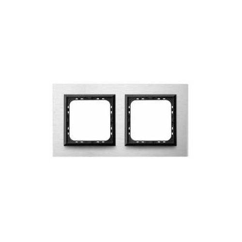 Ramka podwójna Szczotkowane Aluminium 4mm - R-2RAC/62/25 Sonata, R-2RAC/62/25
