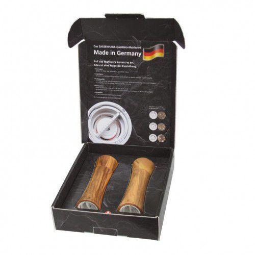Zassenhaus frankfurt zestaw 2 młynków do soli i pieprzu z drewna oliwnego 18 cm