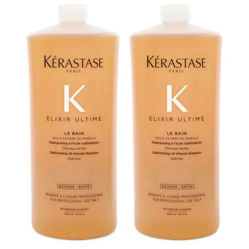 Kerastase elixir ultime le bain   zestaw: kąpiel do każdego rodzaju włosów 2x1000ml marki Kérastase